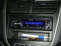 Фотография установки магнитолы Kenwood KMM-357SD в Hyundai Solaris