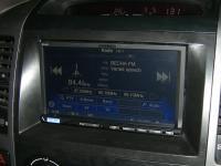 Фотография установки магнитолы Alpine ICS-X8 в Toyota Land Cruiser 120