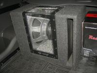 Установка сабвуфера Alpine SBG-1244BP в Opel Antara