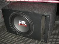 Установка сабвуфера MTX RT12-04 vented box в Mitsubishi Lancer X