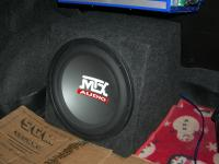 Установка сабвуфера MTX RT12-04 box в Daewoo Nexia