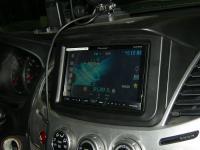 Фотография установки магнитолы Pioneer AVH-X4600DVD в Mitsubishi L200