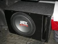 Установка сабвуфера MTX RT12-04 vented box в Toyota Camry V40