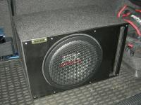 Установка сабвуфера MTX RT12-04 vented box в Toyota Corolla XI