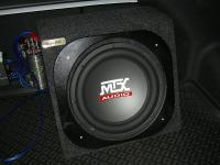 Установка сабвуфера MTX RT12-04 box в Hyundai Solaris