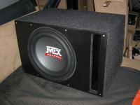 Установка сабвуфера MTX RT12-04 vented box в Opel Signum
