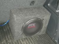 Установка сабвуфера MTX RT10-04 box в Skoda Fabia