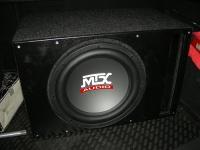 Установка сабвуфера MTX RT12-04 vented box в Opel Astra J GTC