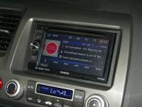 Фотография установки магнитолы Kenwood DDX3055 в Honda Civic 4D