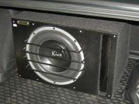Установка сабвуфера Kicx QS 300 в Chevrolet Cruze