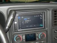 Фотография установки магнитолы Pioneer AVIC-F960BT в Chevrolet Tahoe