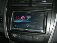 Фотография установки магнитолы Pioneer AppRadio SPH-DA110 в Mitsubishi ASX