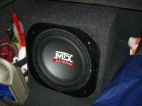 Установка сабвуфера MTX RT12-04 box в Opel Astra J GTC