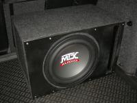 Установка сабвуфера MTX RT12-04 vented box в Skoda Octavia (A5)