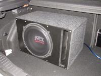 Установка сабвуфера MTX RT12-04 vented box в Ford Focus 3