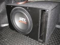 Установка сабвуфера MTX RT12-04 vented box в Honda Civic 4D