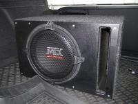 Установка сабвуфера MTX RT12-04 vented box в KIA Optima