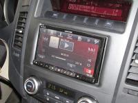 Фотография установки магнитолы Alpine INE-W977BT в Mitsubishi Pajero IV
