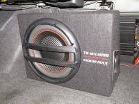 Установка сабвуфера Pioneer TS-WX305B в Honda Civic 4D