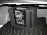 Установка сабвуфера Alpine SBG-1244BP в BMW 3 (E90)