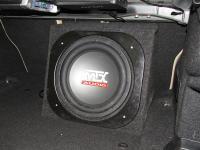 Установка сабвуфера MTX RT12-04 box в BMW 3 (F30)