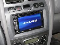 Фотография установки магнитолы Alpine INE-W920R в Hyundai Santa Fe