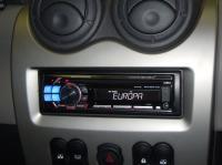 Фотография установки магнитолы Alpine CDE-112Ri в Renault Logan