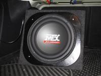 Установка сабвуфера MTX RT12-04 box в Peugeot 408
