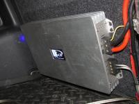 Установка усилителя Kicx QS 1.600 в Volkswagen Golf Plus